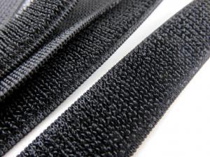 B371 Kardborrband elastiskt 20 mm svart (mjuk)