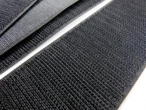 B372 Kardborrband 50 mm svart (hård)