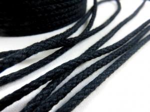 B376 Bomullssnodd 3,5 mm svart
