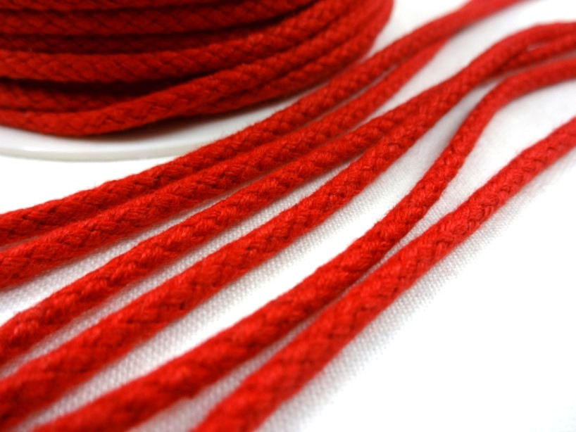 B376 Braided Cotton Cord 3,5 mm red