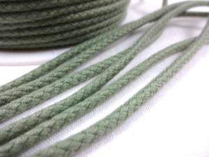 B376 Bomullssnodd 3,5 mm olivgrön