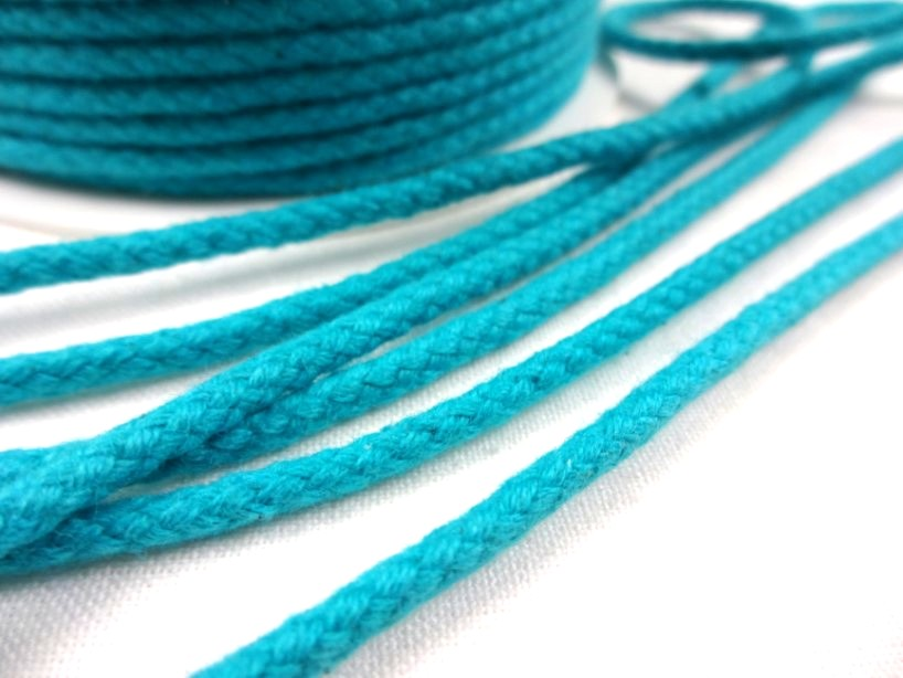 B376 Braided Cotton Cord 3,5 mm turquoise