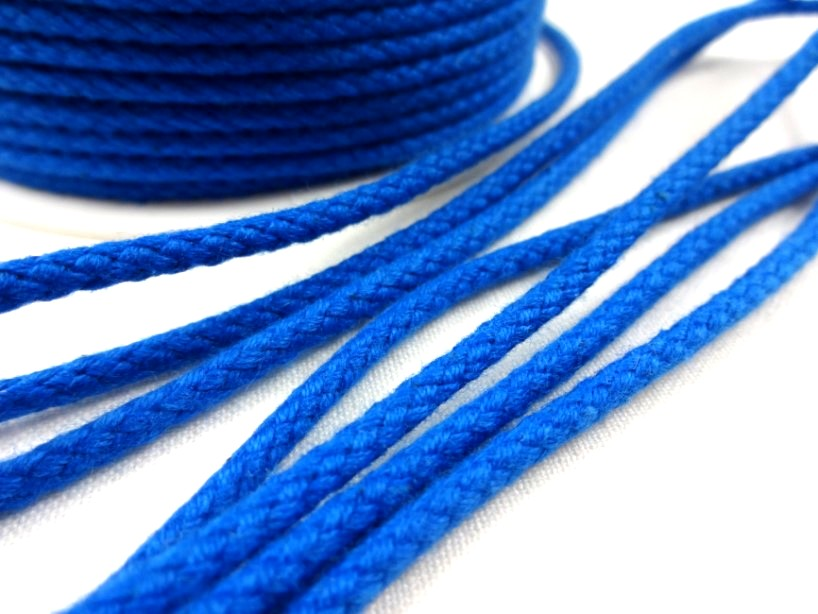 B376 Braided Cotton Cord 3,5 mm royal blue