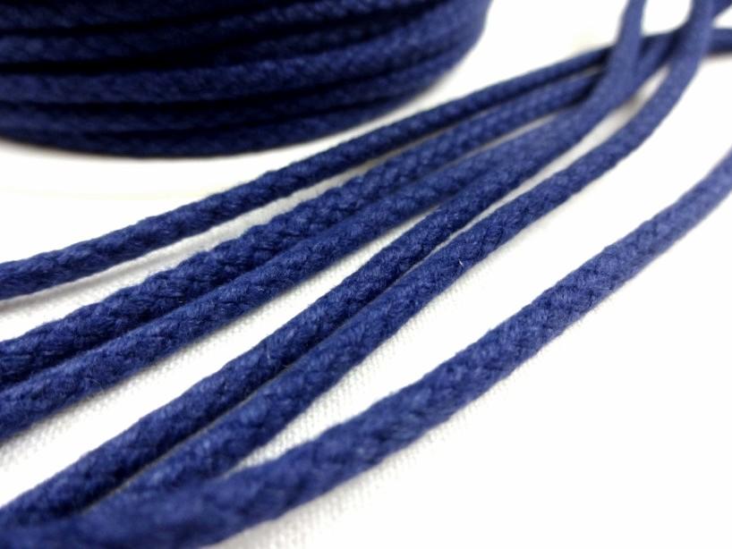 B376 Braided Cotton Cord 3,5 mm dark blue