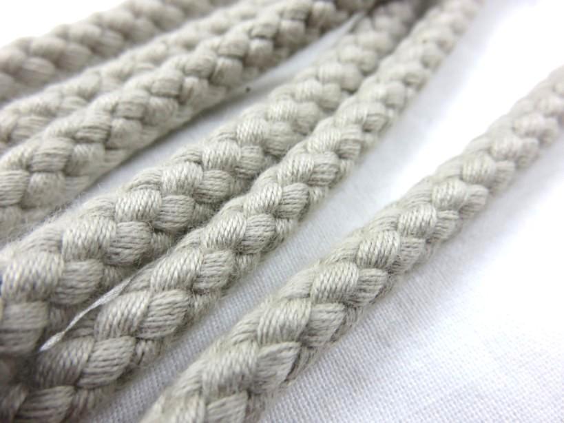 B377 Cotton Cord 8 mm light beige