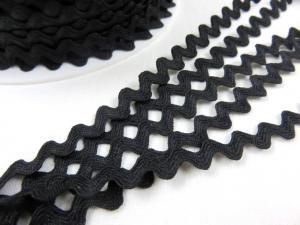 B378 Zig-zagband 7 mm svart