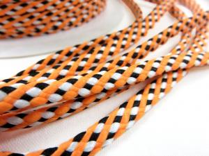 B382 Cord 5 mm orange/black/white