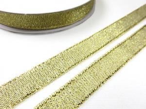 B427 Lurexband 10 mm guld (10 m)