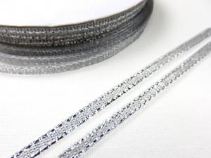 B427 Lurexband 3 mm silver (10 m)