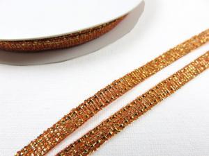 B427 Lurexband 3 mm brons (10 m)