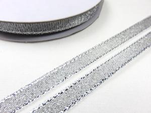 B427 Lurexband 6 mm silver (10 m)