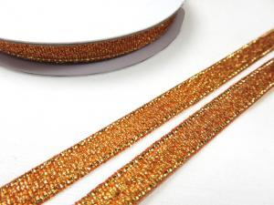 B427 Lurexband 6 mm brons (10 m)