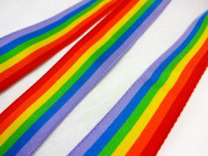 B436 Grosgrain Ribbon Rainbow 26 mm