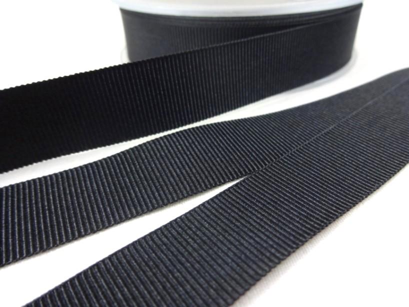 B437 Ripsband 18 mm svart