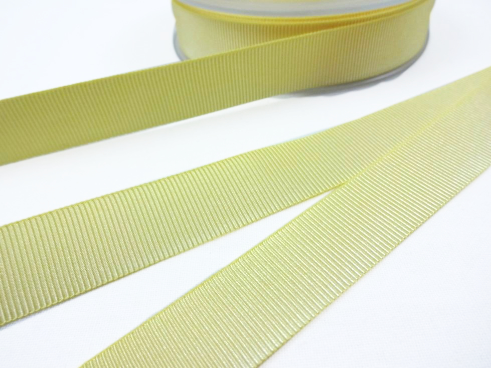 B437 Grosgrain Ribbon 18 mm light yellow
