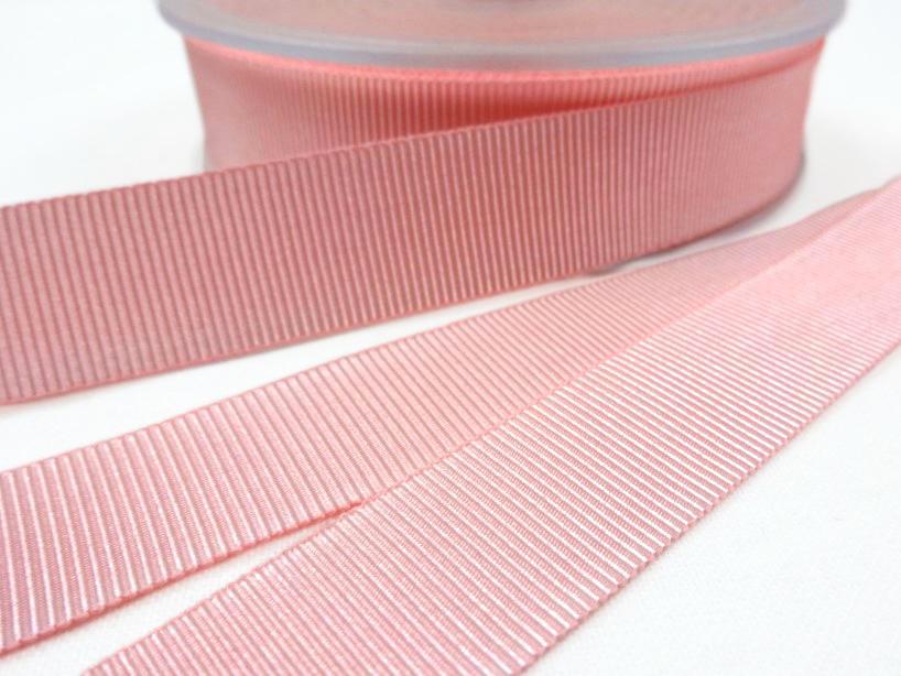 B437 Ripsband 18 mm rosa
