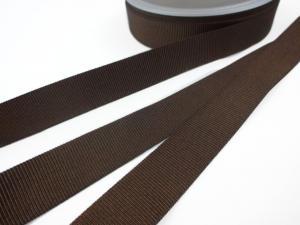 B437 Ripsband 18 mm brun