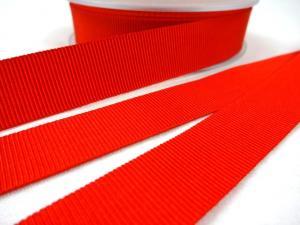 B437 Ripsband 18 mm röd