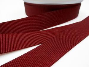 B437 Ripsband 18 mm vinröd
