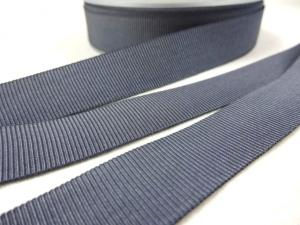 B437 Ripsband 18 mm grå
