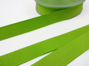 B437 Ripsband 18 mm limegrön