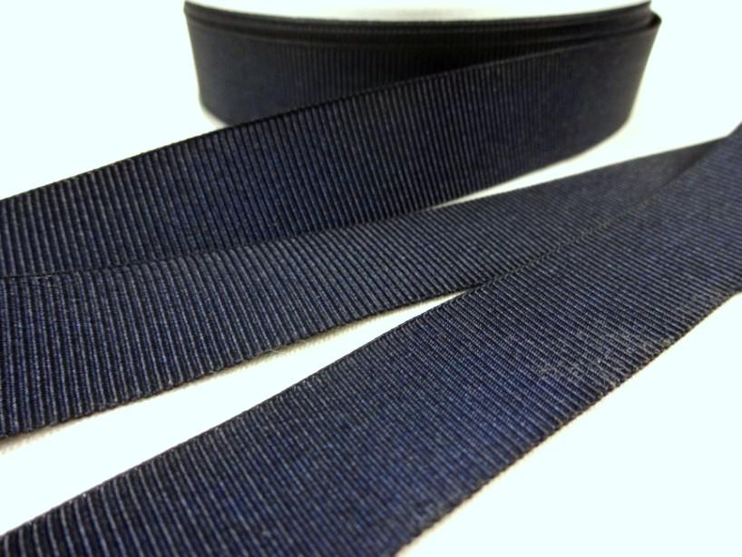 B437 Ripsband 18 mm mörkblå