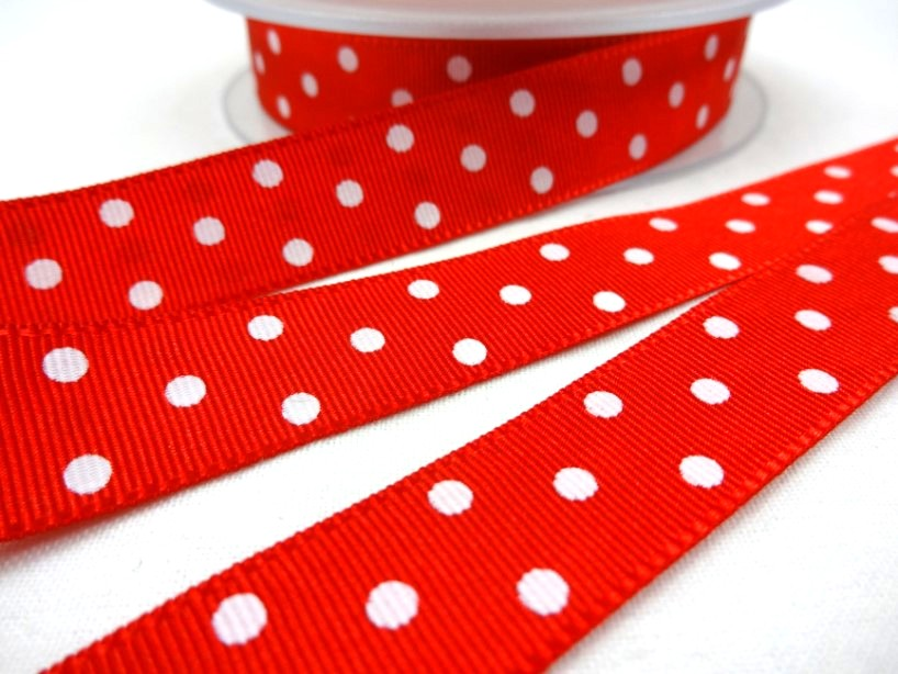 B438 Ripsband Prick 16 mm röd