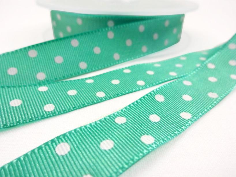 B438 Ripsband Prick 16 mm grön
