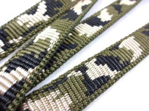B441 Polypropylenband Kamouflage 15 mm grön