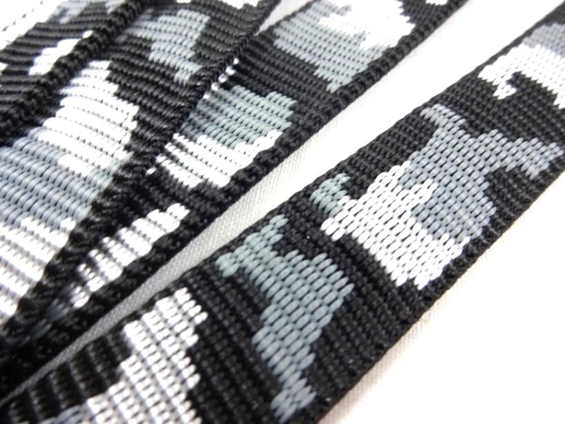 B441 Polypropylenband Kamouflage 20 mm svart