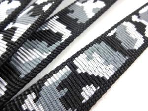 B441 Polypropylenband Kamouflage 25 mm svart
