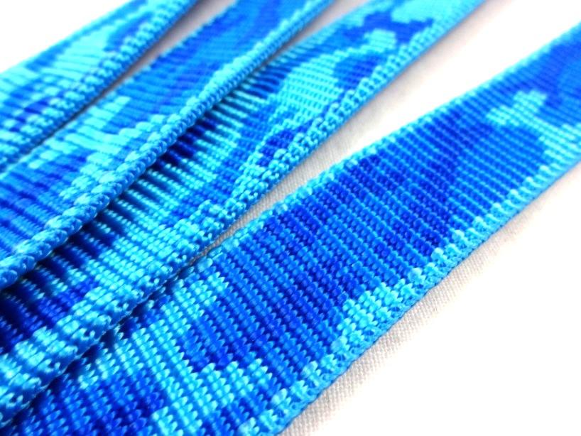 B442 Polypropylenband Kamouflage 20 mm blå