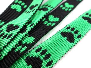 B443 Polypropylene Webbing Paws 15 mm green
