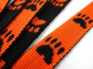 B443 Polypropylene Webbing Paws 20 mm orange