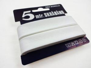 B445 Cotton Bias Binding Tape 18 mm white (5 m)