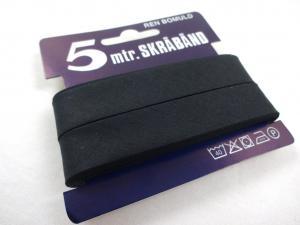 B445 Snedslå bomull 18 mm svart (5 m)