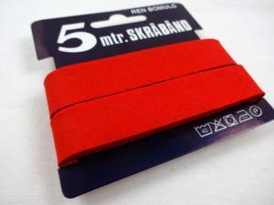 B445 Cotton Bias Binding Tape 18 mm red (5 m)