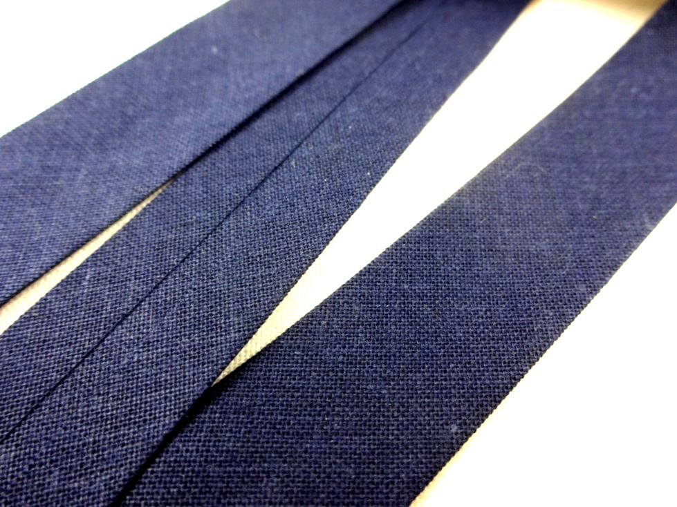 B445 Snedslå bomull 18 mm mörkblå (5 m)