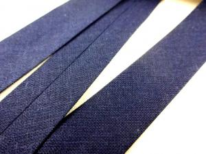 B445 Cotton Bias Binding Tape 18 mm dark blue (5 m)
