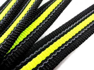 B451 Gummerat polypropylenband med rand 20 mm svart/gul