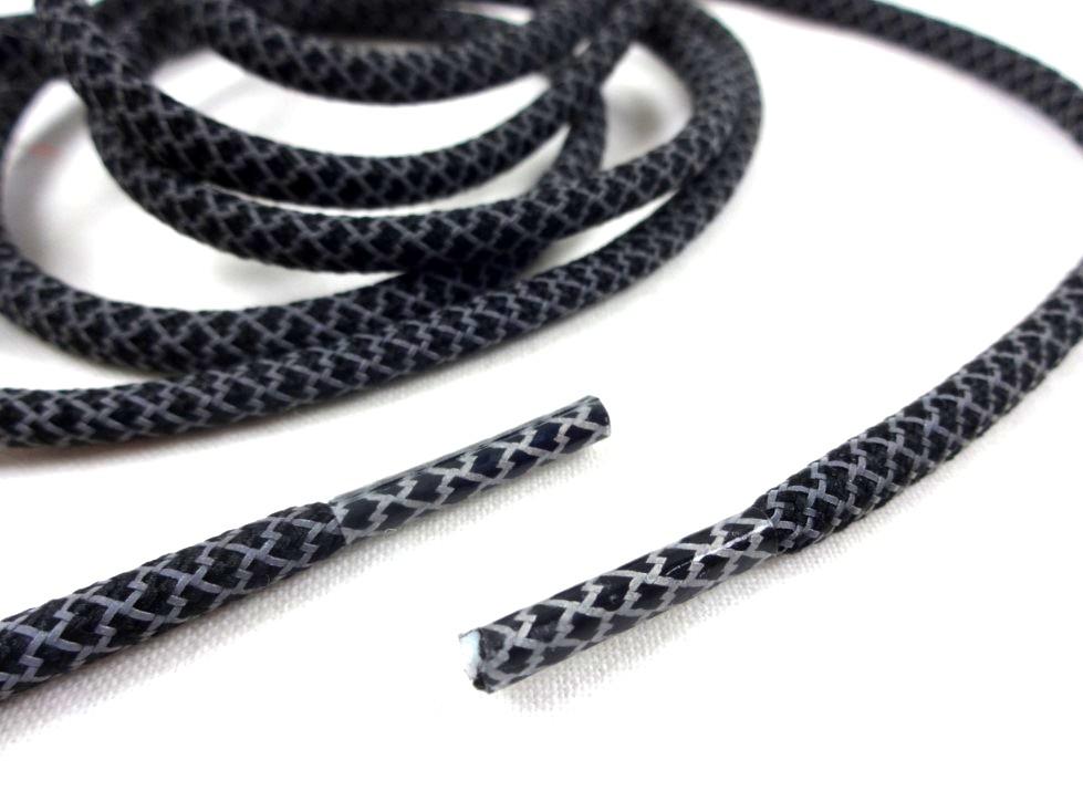 B455 Snodd med reflex och plaständar svart (130 cm)