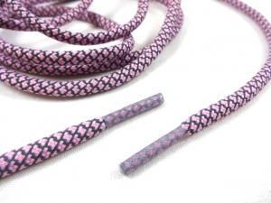 B455 Snodd med reflex och plaständar rosa (130 cm)