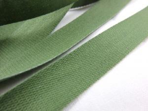 B500 Bomullsband 14 mm armegrön (20 m)