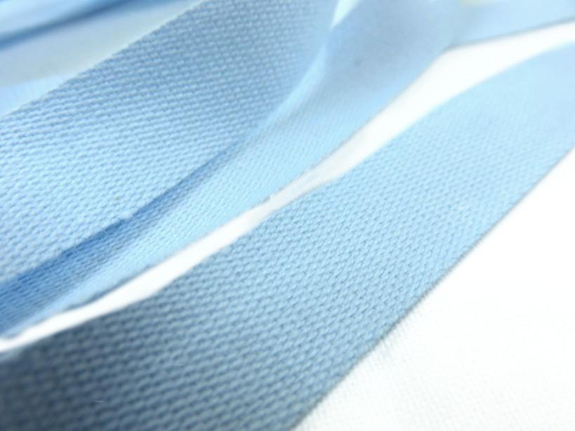 B500 Bomullsband 14 mm ljusblå (20 m)