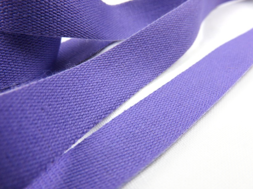 B500 Bomullsband 14 mm lila (20 m)