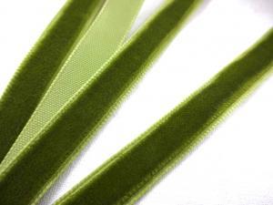 B510 Sammetsband 10 mm olivgrön