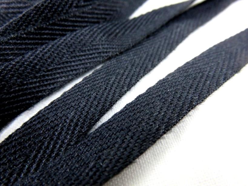 B600 Bomullsband 10 mm svart