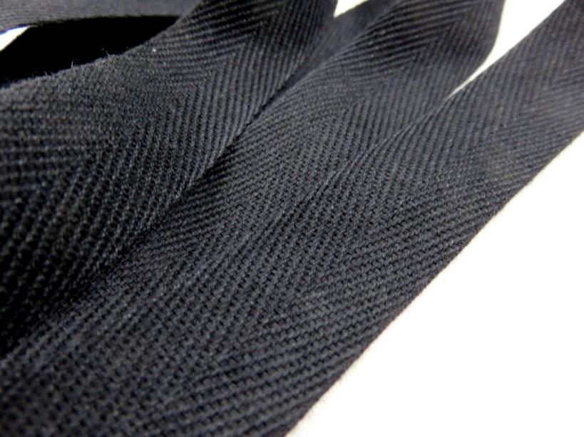 B600 Bomullsband 20 mm svart