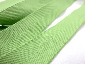 B600 Bomullsband 20 mm ljusgrön
