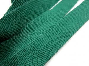 B600 Bomullsband 20 mm mörkgrön